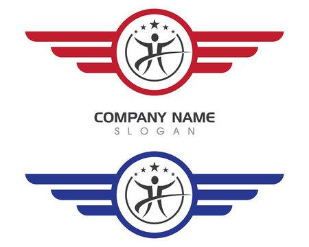 Wing logo logo pour un designer professionnel Banque d'images - 85325587