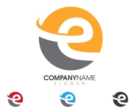 E lettre logo business modèle vector icon
