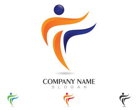 Healthy Life Logo vector illustration.