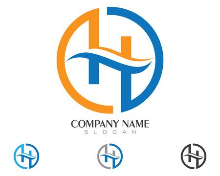 H lettre logo Banque d'images - 85248876