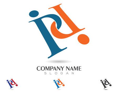 P Letter template icon Ilustração