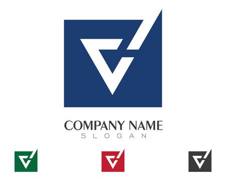 V Letter Logo Illusztráció