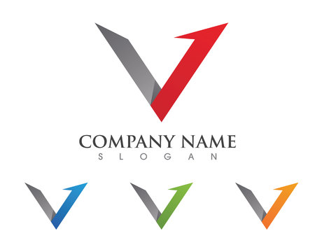 V Letter Logo Vector illustration.