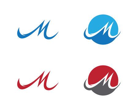 M Letter Logo Vector illustration.
