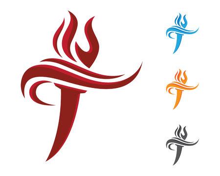 T Letter Logo Illustration