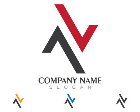 N Letter Logo Template Vectores