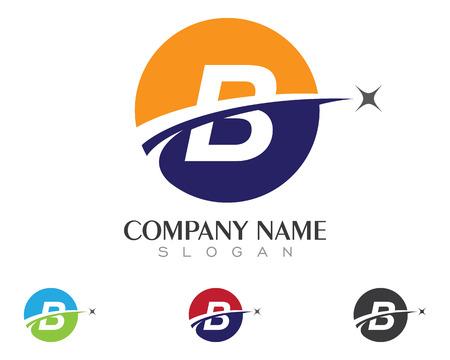 lettre b icône illustration vectorielle de conception