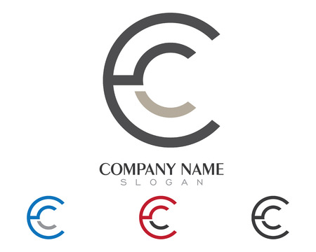 C Letter Logo Template vector design icoon Stock Illustratie