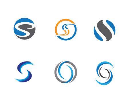 S letter logo Template Ilustração