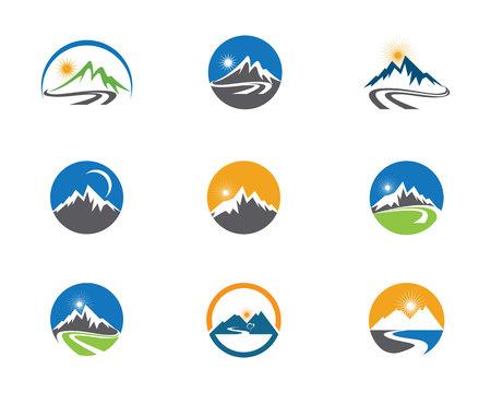 High Mountain icon  Logo Business Template Vector Illustration