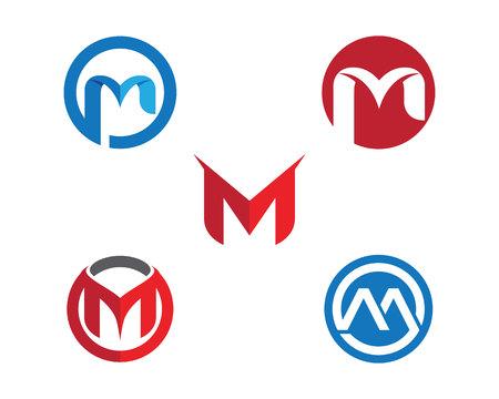 M Buchstaben Logo Standard-Bild - 82325938