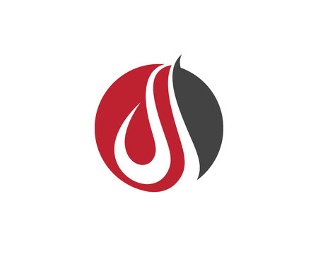 igniting: Fire flame Logo Template illustration.
