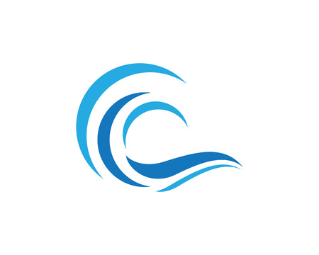 Water Wave symbol and icon Logo Template vector illustration.