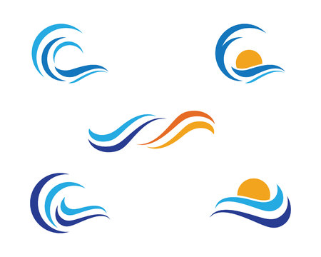 water s: Water Wave Logo Template. Vector illustration.