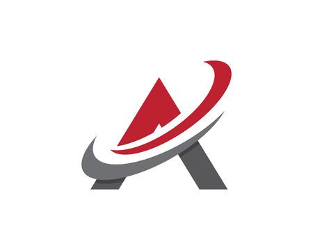 A Letter Logo. Vector illustration.  イラスト・ベクター素材
