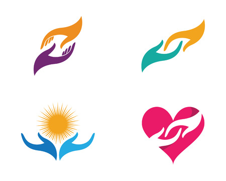 modern business: Hand Care Logo Template vector icon Business