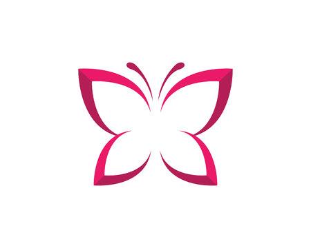 Bellezza farfalla logo icona del modello di progettazione vettoriale