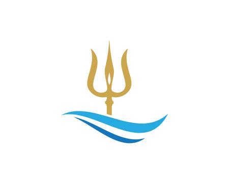 pitchfork: Trident Logo Template vector icon illustration design
