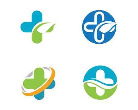 Logotipo médico de la salud de la nube