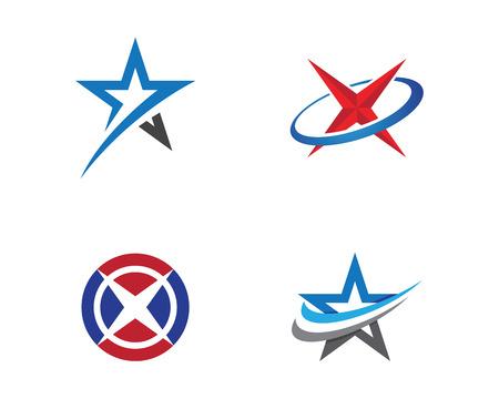 Star Logo Template vector icon illustration design. Illustration