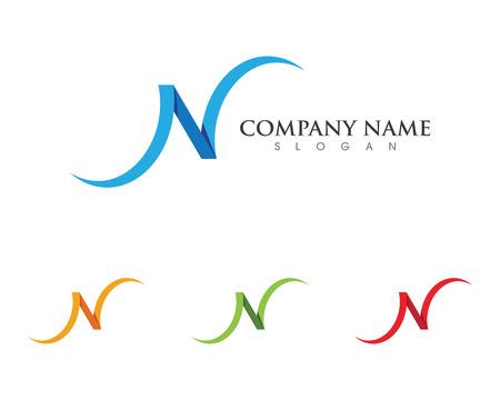 mason: N Letter Logo Template Illustration
