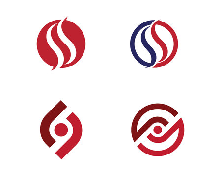 water s: S letter logo Template vector illustration