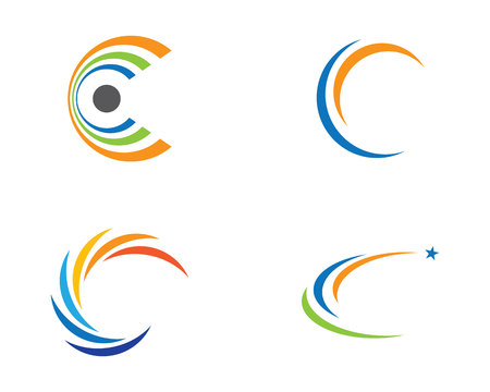 joining the dots: C Letter Logo Template vector icon design