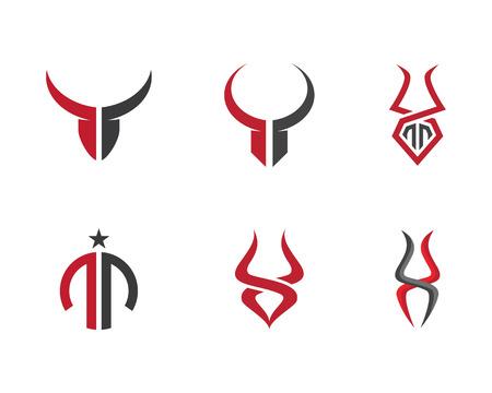slaughter: Taurus Logo Template illustration.