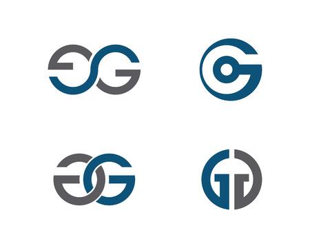 G 편지 로고 그림입니다. 일러스트