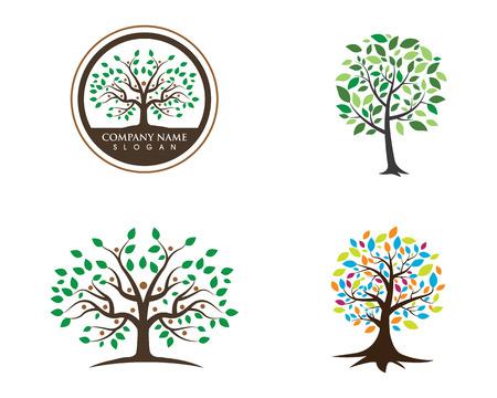 Eco Tree Leaf Logo Template illustration.