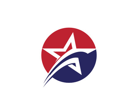 Star Logo Template illustration. Illustration