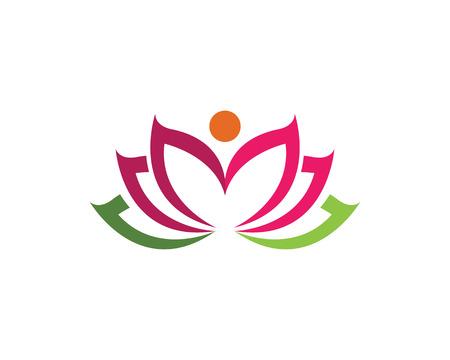 Beauty Lotus Logo Template illustration.