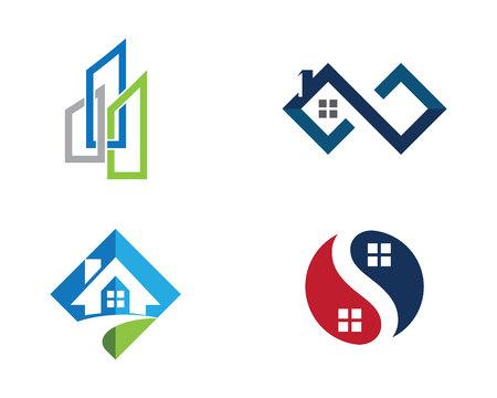 プロパティのロゴのテンプレート  イラスト・ベクター素材