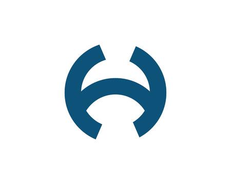 brand activity: H Letter Logo Template Design Vector illustration