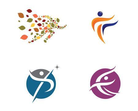 leaf logo: Healthy Life concept logo designs