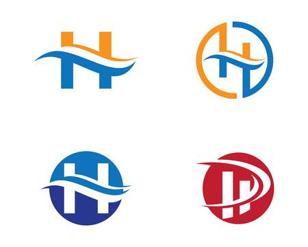 H Brief Logo Vorlage