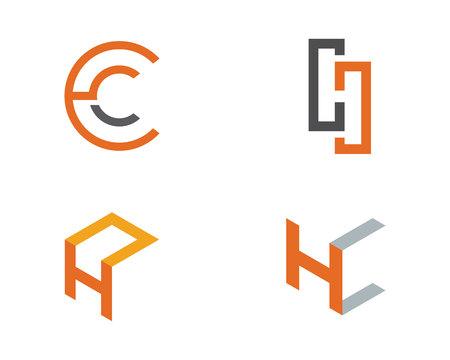 H Buchstabe Logo Template Design Vector Illustration Standard-Bild - 82007880