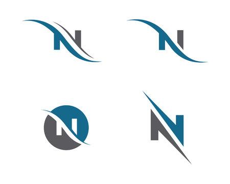N Letter Logo Template Ilustração