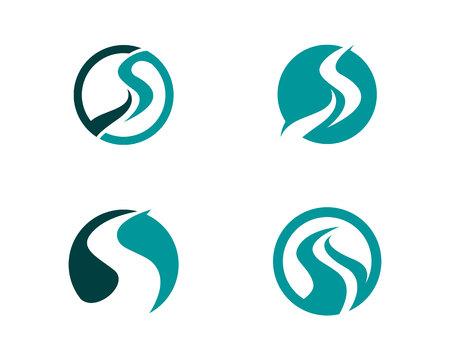 川のロゴのテンプレート
