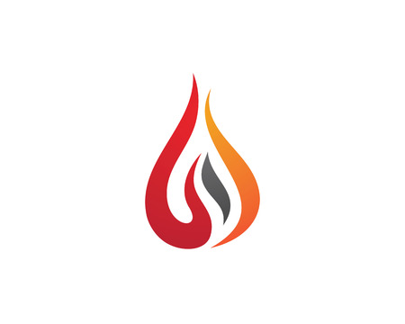 torch: Fire flame Logo Template
