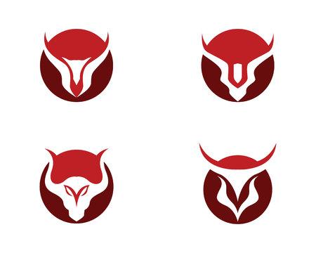 おうし座のロゴのテンプレート  イラスト・ベクター素材