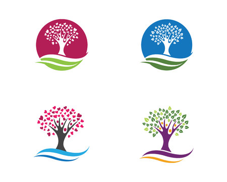 Family Tree Symbol Icon Logo Design Template Illustration Royalty