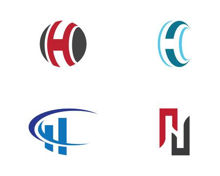Lettre H Logo Modèle de conception Vector illustration
