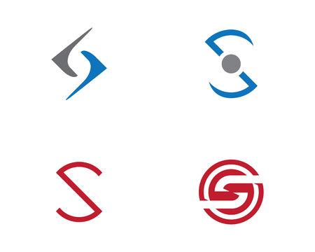 water alphabet: S letter logo Template Illustration