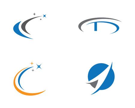 Faster Logo Template vector icon illustration design Vettoriali