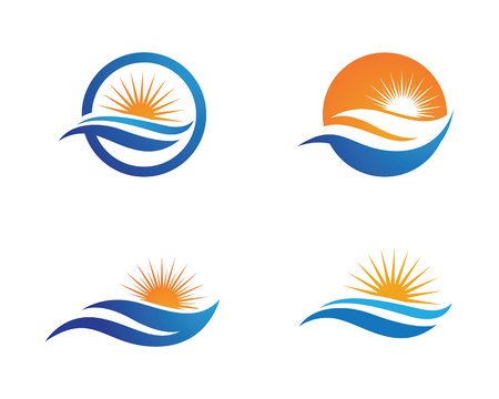 Water Wave Logo Template Banco de Imagens - 81933801