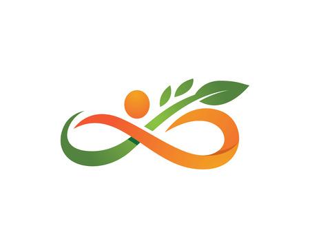 Logo Vie saine Banque d'images - 81941777