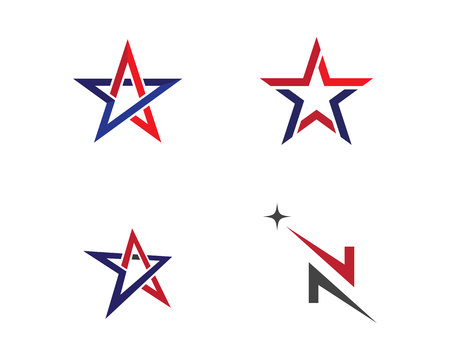 Star Logo Template 矢量图像