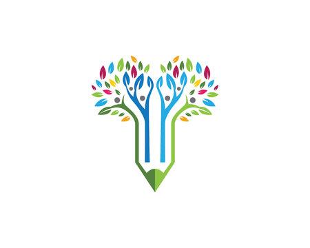 Education Logo Template Banque d'images - 81954125
