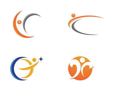 leaf logo: Healthy Life Logo illustration.